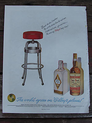 Vintage 1948 Gilbey's Scotch Whisky-Alcohol Print Ad-Advertisement-Holiday Mag.