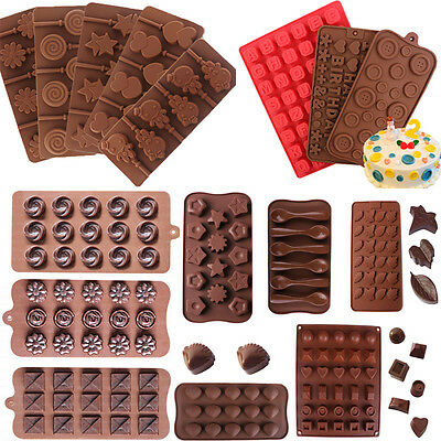 Lollipop Silicone Cake Decorating Moulds Candy Cookies Chocolate Baking Mold