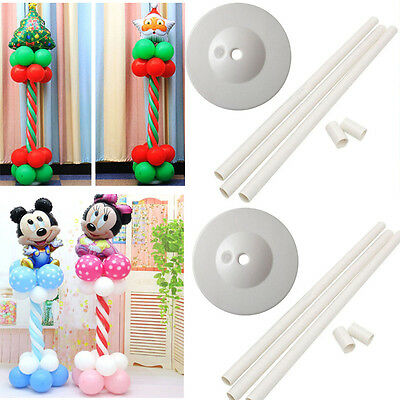 2Set Balloon Arch Frame Column Stand Builder Kit for Birthday Wedding Decoration