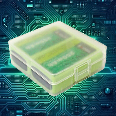 Transparent Hard Plastic Battery Case Holder Storage Box for 2pcs 9V Batteries