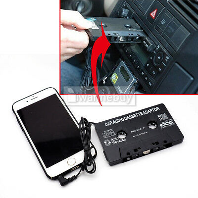 Car Audio Music Cassette Tape Aux Plug 3.5mm ipod mp3 player Adapter Converter