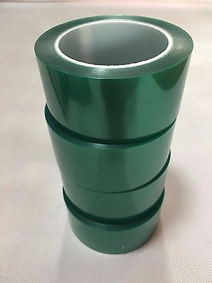 "1mil High Temp Green Polyester Masking Tape for Powder Coating- 2"" x 72yds"