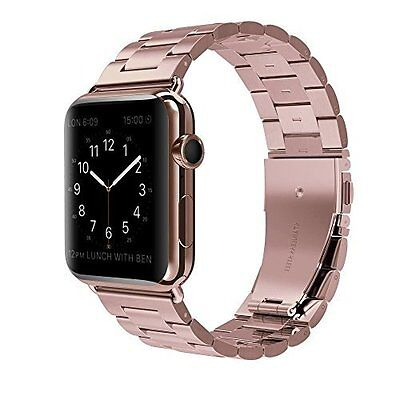 Apple Watch Band Solid Stainless Steel Replacement iWatch Strap 42mm Rose Gold