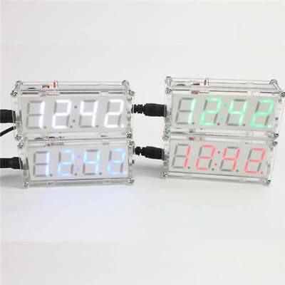 Cool LED DIY Electronic Micro Controller Kit Clock Time Thermometer quality US