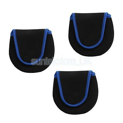 3Pcs Neoprene Fly Fishing Reel Cover Protective Pouch Wheel Storage Bag Case
