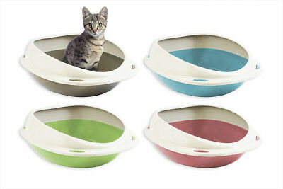 Cat Litter Tray Shuttle Kitty Kitten Easy Clean Lightweight Mess Oval Shape