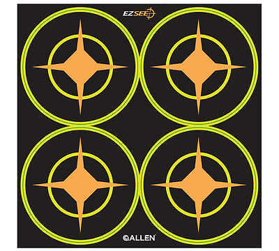 Allen EZ SEE Adhesive Targets Various Sizes Impact Area Shooting Targets