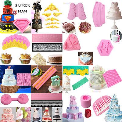 3D Silicone Fondant Mould Cake Mold Chocolate Baking Sugarcraft Decorating Tool