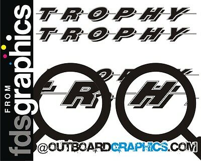 Pair of 6ft long Bayliner Trophy sticker/decals