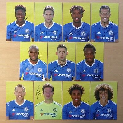 2016-17 Chelsea Signed Official Club Cards - UNRELEASED BY CLUB