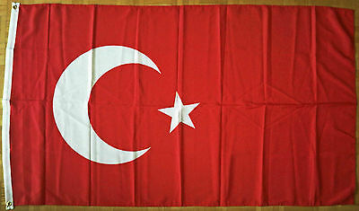 3 x 5 Feet Turkey Turkish Polyester Flag House Banner