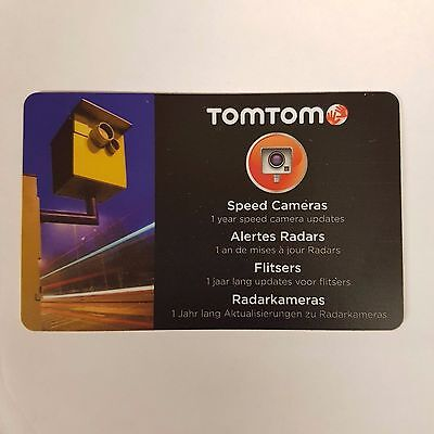 Tomtom 1 Year Speed Camera Warnings Subscription Activation Pre Paid Update Card