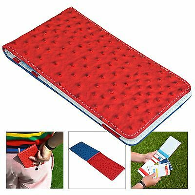 Ryder Cup USA On Par Ostrich Scorecard Holder - Red & Blue
