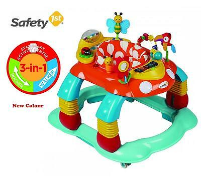 Br New Colour Melody Garden Baby Walker Rocker 3in1 Activity Play Centre Gift