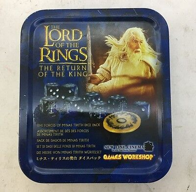 Lord Of The Rings ROTK Dice Set Genuine Games Workshop Excellent Condition