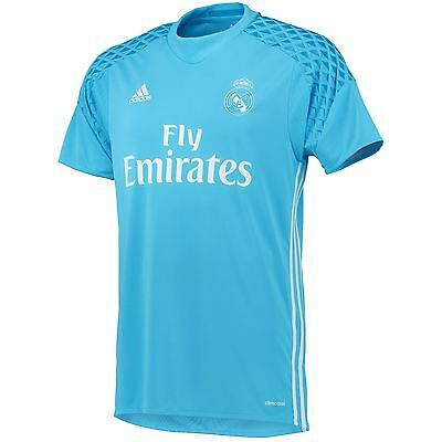 adidas Mens Gents Football Soccer Real Madrid Home Goalkeeper Shirt 2016-17