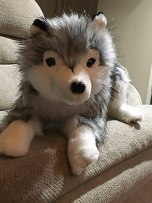 Ditz Designs Siberian Husky Stuffed Plush Animal Lap Dog Hug Lovable,Top Quality