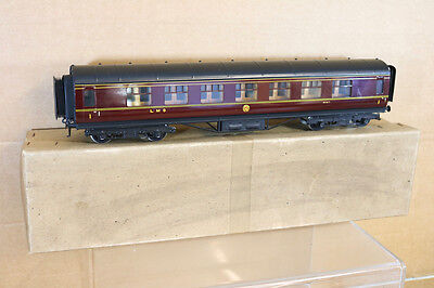 EXLEY O GAUGE 3 RAIL LMS 1st CLASS CORRIDOR COACH 8887 in BASSETT LOWKE BOX nj