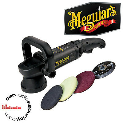 Meguiars MT320 Deluxe Polisher Kit Pads 3000-7500 OPM Buff Pad Finishing Disc
