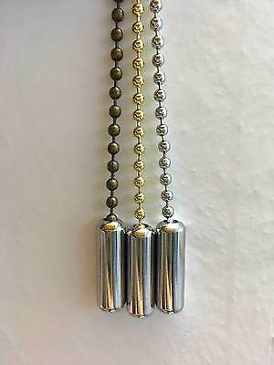 Chrome Pull Cord Weight Roman Blind Light Pull Chain Bathroom Ceiling Switch