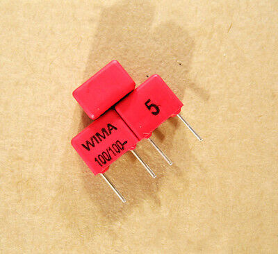 2p WIMA 100pF 100V FKP2 Capacitor Audio Speaker Amplifier 5% 100p n1 101