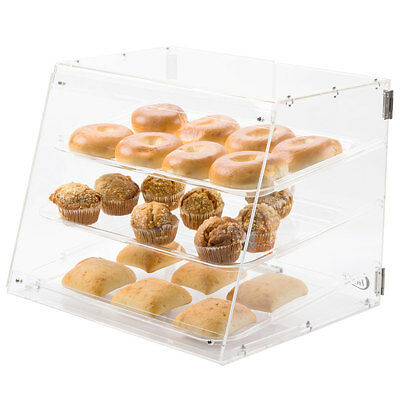 3 Tray Bakery Display Case Magnetic Doors Donut Pastry Hotel Store Coffee Shop