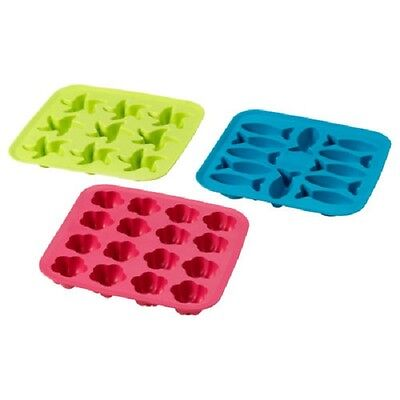 IKEA Plastis Silicone Shaped Rubber Ice Cube Tray Mould. Ideal Children's Party