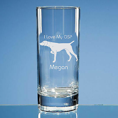 German Shorthaired Pointer Dog Lover Gift Personalised Engraved Highball Glass