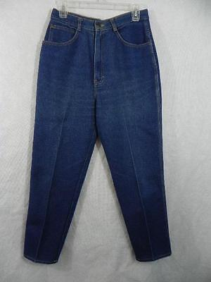 Vtg COLLECTIONS High Waist Jeans 28x27 vtg 14 = S M Cotton Denim Indigo Blu L30