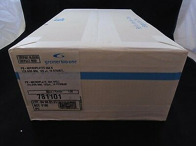 GREINER BIO-ONE Polystyrene 384-Place F-Bottom Clear Microplate (Case of 100)