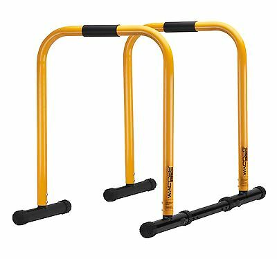 Wacces Adjustable Dip Station Heavy Duty Pull Up Parallel Bars Strength Training