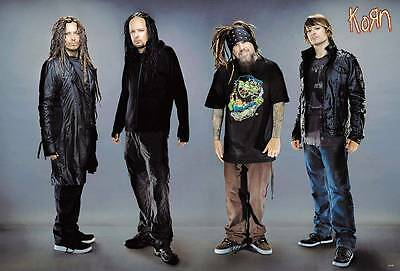 "KORN THE POSTER 24""x36"" MUSIC BAND ROCK POP CONCERT NEW SIDE WALL SHEET J-4548"