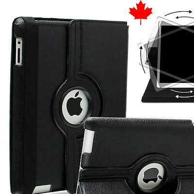 BLACK iPad Case cover Smart Leather Rotating