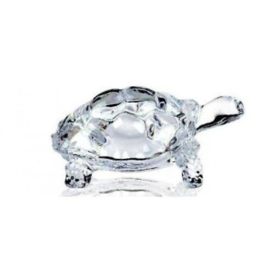 Lightahead® CHINESE FENG SHUI TORTOISE TURTLE GLASS STATUE LUCKY GIFT OF GO