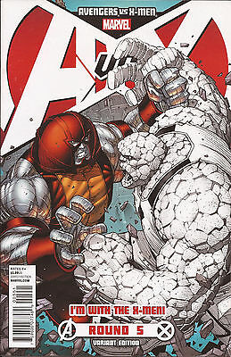 Avengers Vs X-Men #5 F variant Marvel Juggernaut Thing Phoenix John Romita Jr VF