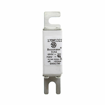 Bussmann 170M1322 Low-Temperature Square Body High Speed Fuse, 315-Amps, 690V