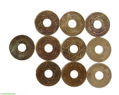 10 British West African Tenth Penny Coins Nigeria Africa