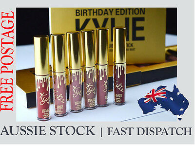 Kylie Jenner Birthday Edition Matte Lipstick Set with retail package (6 PCS)