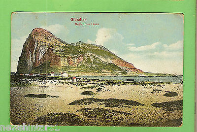 #g.    1911  Postcard - Gibraltar Rock  From  Linea