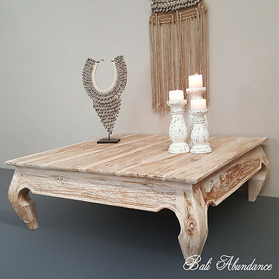 Coffee Table Pick Up Line.Whitewash Hand Carved Opium Teak Coffee Table Timber Low Line Loungeroom