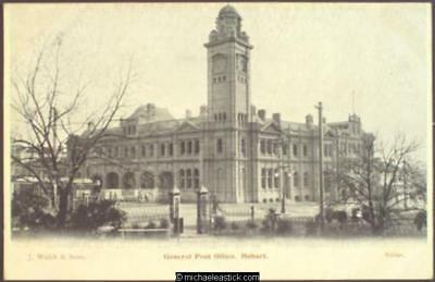 General Post Office, Hobart - Sirius Card by J. Walch & Sons