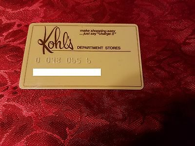 Vintage 1960's or 1970's Kohl's Department Stores Charge Card Rare