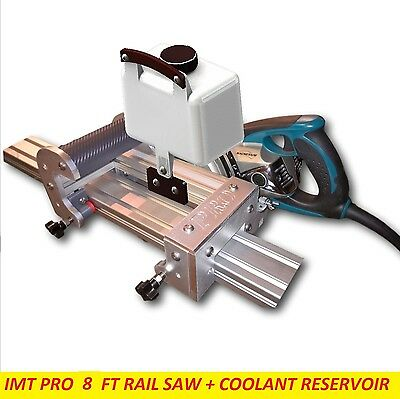 IMT Professional Wet Cutting Makita motor Rail, Track Saw for Granite- 8 Ft rail