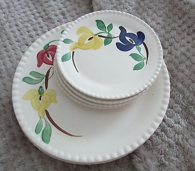 Lot Of Vintage Southern Blue Ridge Pottery Dinnerware Carnival Svc For Four Euc