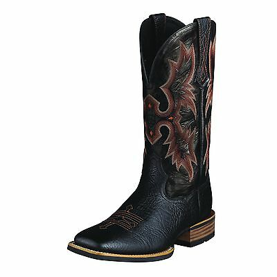 ARIAT - Men's Tombstone Wide Square Toe - Black - ( 10005873 ) - 9EE - New