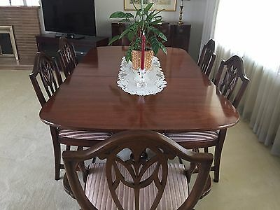 Hepplewhite dining set with 8 chairs and buffet, AMAZING condition!!! Early 1900