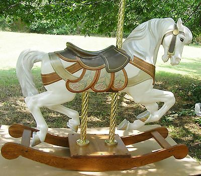 PTC Jumper Carousel Horse on Stand -58 in. long
