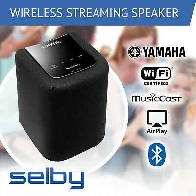 Yamaha WX-010B Wireless Speaker MusicCast WiFi Bluetooth Airplay Black WX010B