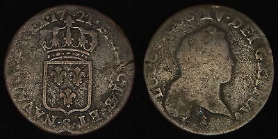 US COLONIAL (FRANCE) - 1721-S 1/2 Sol - Louis XV - John Law