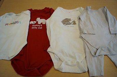 4 X Long Sleeved Oneseys Various Designer Brands 0-3M, 18-24M